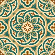 vector seamless pattern with byzantine ornament royalty free