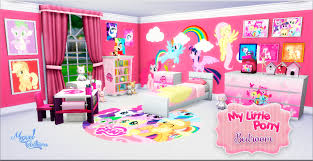 miguel creations ts4 bedroom my little pony mes mods sims my little pony bedroom at victor miguel via sims 4 updates