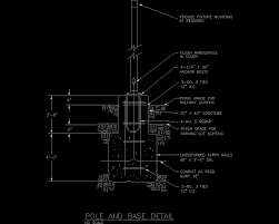 parking lot light pole base detail autocad detail pole dwg