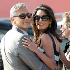 is amal clooney hair one length george and amal clooney hire baby bouncers for their less than one