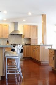 Light Maple Kitchen Cabinets Kitchen Contemporary With Breakfast
