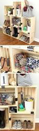 Dollar Store Shoe Organizer Easy Crate Storage With Binder Clips Click Pic For 20 Diy Small