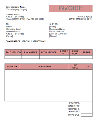 free invoice forms invoice forms printable tax invoice template