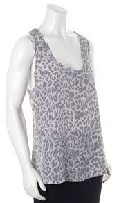 Light Purple Tank Top Joie Gray Black Leopard Print Casual Silk Tank Top Material World