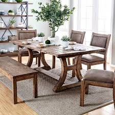 overstock dining room tables furniture of america matthias industrial rustic pine dining table