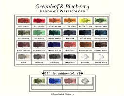 artisanal handmade watercolors u2013 greenleaf u0026 blueberry