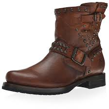mens leather motorcycle boots amazon com frye women u0027s veronica stud moto short ankle u0026 bootie