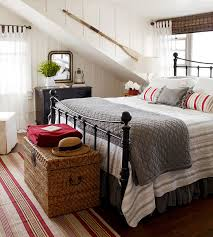 Beach Cottage Bedroom by Decorating With A Pop Of Red Cottage The Inspired Room