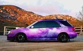 galaxy car galaxy wrapped subaru