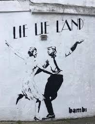 street artist bambi mocks donald trump u0027lie lie land u0027 parody