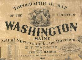 County Map Of Washington by Map Of Washington County Me 1861