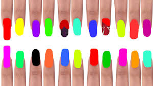 learn colors with surprise nail arts colours to children kids