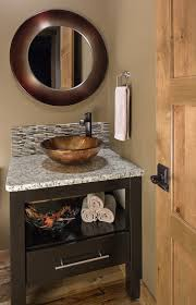 powder room sinks and vanities vessel sink vanity in powder room transitional with glass sink