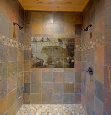 Rustic Tile Bathroom - shower tile murals pacifica tile art studio rustic bathroom tile