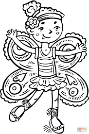 dressed up like a fairy princess coloring page free