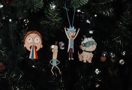 christmas ornament pack rick and morty eclectic christmas