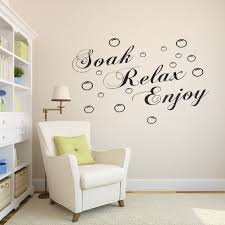 Home Letters Decoration by Relax Enjoy Unwind Vinyl Wall Decal Stickers Letters Bathroom Decor