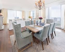 Transitional Dining Rooms With Carpeted Flooring Home Design - Transitional dining room