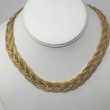 gold braided chain necklace images Jewelry vintage gold braided chain collar necklace poshmark jpg