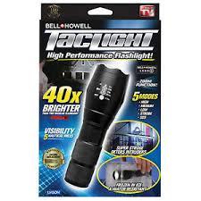tac light flash light new bell and howell tac light flashlight waterproof 40x brighter as