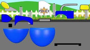3d police monster truck trucks police monster truck vs sports car police car chase video for