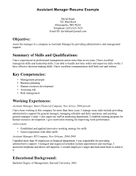 Assistant Manager Resume Objective Resume Objective Examples Marketing Assistant