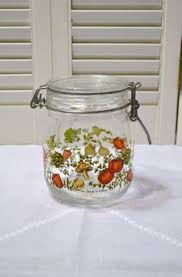 vintage glass canisters kitchen pyrex see n store vintage pyrex storage canister container with