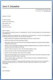 lab technician cover letter examples resume downloads laboratory