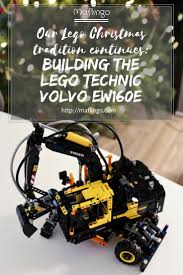 build your own volvo our christmas tradition continues building the lego volvo ew160e