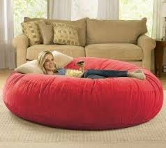 Red Leather Bean Bag Chair Buy Bean Bags Foter