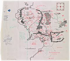 earth map uk tolkien s annotated middle earth map on display at bodleian