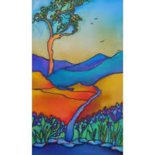 13 best silk painted card ideas images on silk
