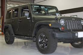 jeep rubicon black matte black wrap jeep wrangler zilla wraps