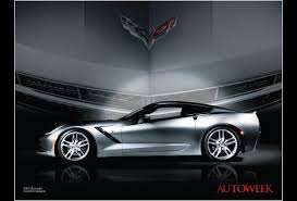 corvette poster slick sleek stingray posters now available from autoweek