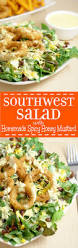 southwest salad recipe with spicy honey mustard the gracious wife