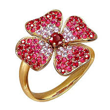 flower rings jewelry images Ruby and pink sapphire flower ring 18k yellow gold rings jpg