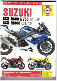 suzuki gsxr1000 gsxr750 gsxr600 haynes manual 03 2006 clean item