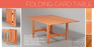 Folding Wood Card Table Amazing Wooden Folding Card Table Wooden Folding Collapsible