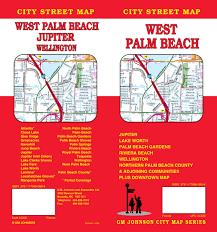 Map Of Palm Beach Florida by West Palm Beach Fl City Street Map Gm Johnson U0026 Associates Ltd