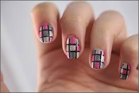 50 most stylish gray and pink nail art design ideas