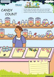 candy count math worksheet for grade 1 free u0026 printable worksheets