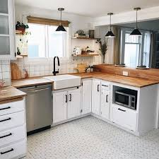 kitchen with white cabinets and wood countertops 23 white kitchens without wood floors s