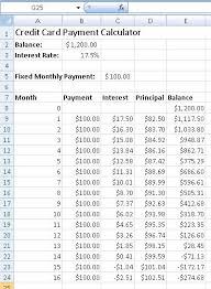 credit card interest calculator excel template kctati info