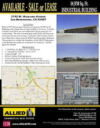 sample property flyers tools resources allied commercial