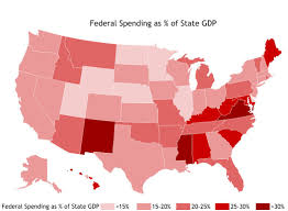 States Ive Been To Map by Which States Rely Most On Federal Spending Mises Wire