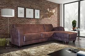 canapé d angle contemporain canapé d angle contemporain en tissu marron vieilli tyko canapé d