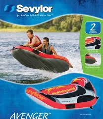 amazon inflatable kayak black friday new sevylor avenger sled shaped 2 person inflatable towable