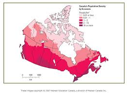 canadian map population distribution types of maps gcg1d1 geography of canada