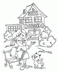 and coloring page for kids back to coloring