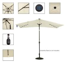 Patio Umbrella Led Lights by Solar Powered 22 Led Lighted Outdoor Patio Umbrella Light Yellow